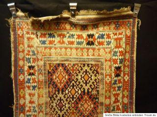 100 Jahre Antiker Kazak Läufer TEPPICH Shirwan KUBA Old Rug Carpet