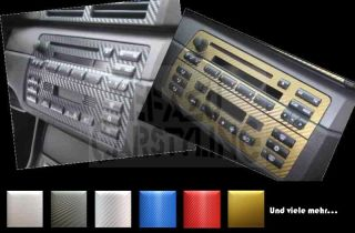 dash trim kit for CD radio and climate control BMW E46 aluminium