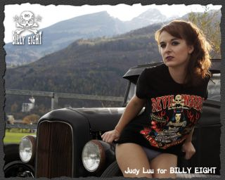 Billy Eight ★666 Rockabella Nitro Rockabilly Babe Devil Girl T