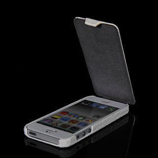 Krokodil PU Leder Tasche Flip Hülle Schale Cover für Apple iPhone 5
