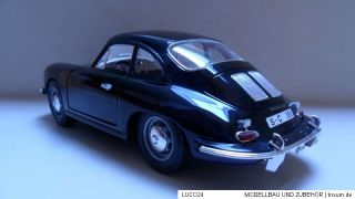 Porsche Modell / 356 B / schwarz / 1961 / SCALE 118 / von Bburago