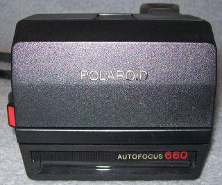 Polaroid Land Camera AF 660 Sofortbild Kamera mit Halsriemen Autofocus