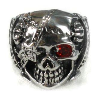 Totenkopf Totenkopfring Edelstahl Biker Gothic Skull