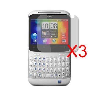 Neu 3x Display Schutzfolie Folie für HTC ChaCha Cha Cha