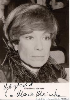 Eva Maria Meineke Rüdel AK 80er Orig. Sign. u.a. Tatort / Der Alte