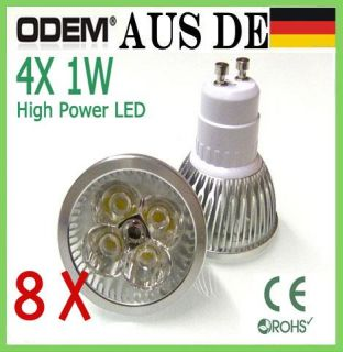 Stück 4W High Power GU10 LED Lampe Warmweiss Kaltweiss Spot