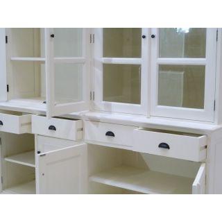 buffetschrank landhausstil l buffet vitrine weiss. Black Bedroom Furniture Sets. Home Design Ideas