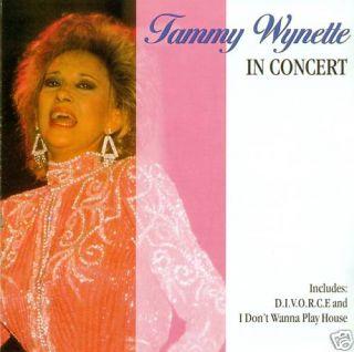 TAMMY WYNETTE   IN CONCERT CD ALBUM (A692)