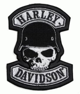 HARLEY DAVIDSON SPIKE SKULL PATCH (XXL)10 INCH Aufnähe