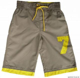 NEU Lumberman Badeshorts Bermuda Shorts Hose Micro Faser braun 128