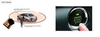 Complete Car Passive Keyless Entry Security Alarm System + Button