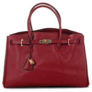 ROUVEN Bordeaux Rot Kalbleder ICONE 40 Tote Bag Leder Tasche