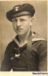 Port. Photo BEST Studio Kriegsmarine Sailor Posed (#1)