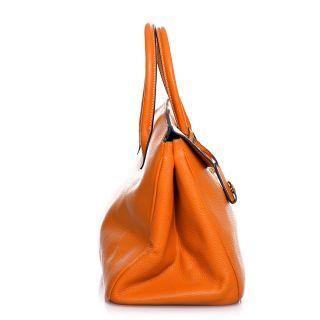 ROUVEN Orange & Gold JANE 40 Tote Bag Kalbleder Damen Tasche
