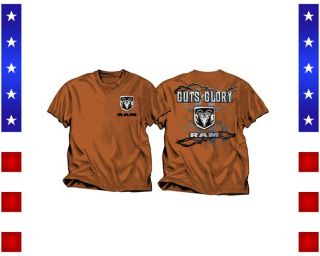 Dodge Ram Guts & Glory Texas Orange Men`s T Shirt