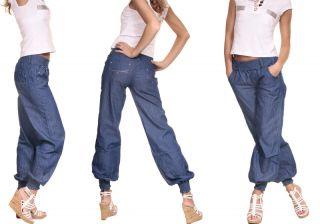 MISS ONE Haremshose Pumphose Harem Hose Jeans XS (34)