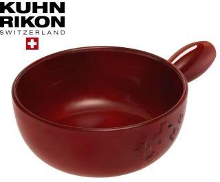 KUHN RIKON Caquelon Käse Fondue Topf Schweizer Kreuz 22 cm