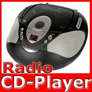 Tragbarer Stereo CD Player Radio Boombox Musik Anlage