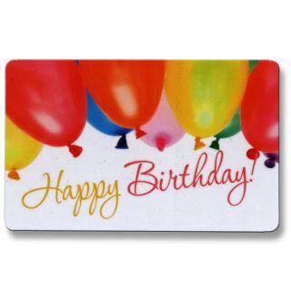 EC Karte Glückskarte Happy Birthday Luftballon