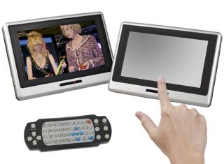 23 cm LCD TFT MONITOR KOPFSTUTZE DVD Player USB SD Card Reader Auto