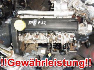 MOTOR RENAULT MEGANE SCENIC 2 1,5DCI K9K722 69TKM 60KW K9K