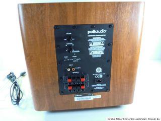 Polk Audio PSW110 Aktiver Subwoofer Kirsch Top 0747192117696