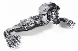 Totenkopf Skull Skelett für Scheinwerfer 4 5¾ Harley Suzuki Honda