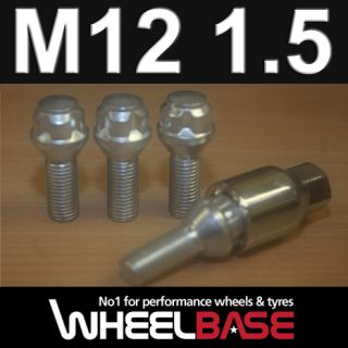 SAAB 9 3 LOCKING ALLOY WHEEL LOCK BOLTS/NUTS