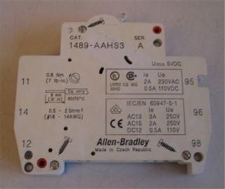 Allen Bradley 1489 AAHS Serie A Signalkontakt Hilfskontakt Kontakt