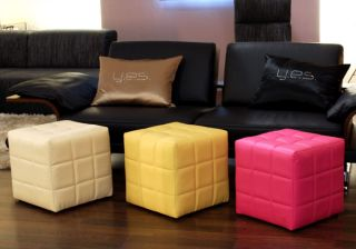 Sitzwürfel Hocker Kunstleder Top Design Sitzhocker