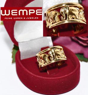 orig. Wempe Brillant Ring 750er Gold Markenschmuck Elefanten