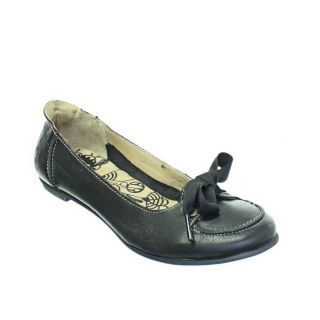 WOMENS FLY LONDON FLASH BLACK LEATHER FLAT LADIES BALLERINA SHOES SIZE