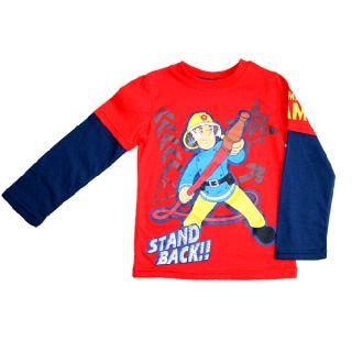 Feuerwehrmann Sam   Langarm Shirt rot blau (Gr.98 116)