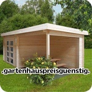 Gartenhaus Blockhaus Gerätehaus Holz 300x300+270x300,28 mm283939