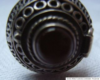 Alter Ring Giftring Karneol Silberring 925 Silber 10