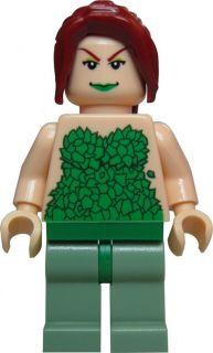 LEGO BATMAN Custom Figur Poison Ivy mit langen, dunkelroten Haaren
