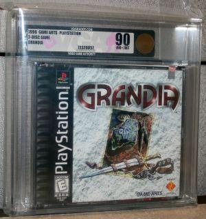 Grandia   Sony PlayStation   VGA 90   GOLD   New   Mint   Sealed