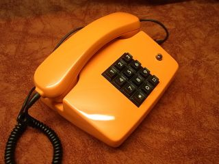 altes antik Telefon FeTAp 755 1 orange selten Telephone Fernsprecher