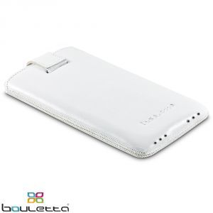 Apple iPhone 5 Bouletta MC DUZZ Weiss ECHT LEDER Tasche Etui Hülle
