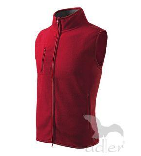 bequeme Fleece Weste für Damen und Herren Größe XS   XXL Farbe rot