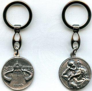 Christophorus Schlüsselanhänger Petersdom Vatikan Key Chain St