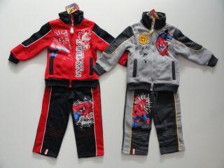 Spiderman Jogginganzug Trainingsanzug Jacke & Hose 4 10J Rot Grau