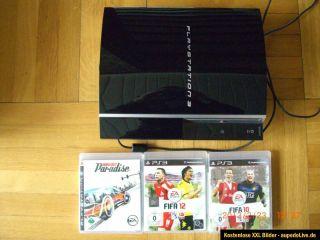 Sony PlayStation 3 80 GB Piano Black Spielkonsole CHECHK04 (PAL) FIFA