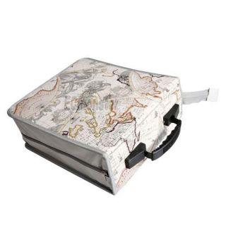 320 Disc CD DVD Storage Bag Holder Case Globe Pattern New Wallet bag