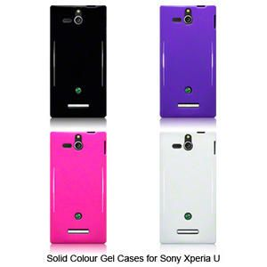 TPU Gel Case / Cover For Sony Xperia U / Solid Black, Purple, pink
