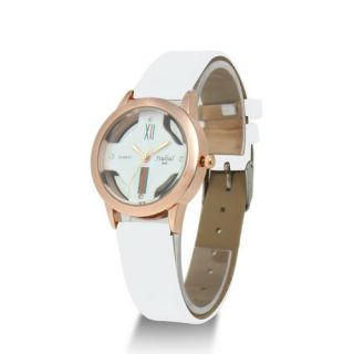 New Lovers Leather Fashion Men Pair Couple Round Quartz Woman Lady
