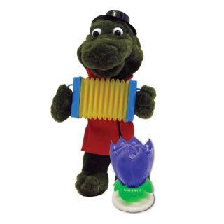 Krokodil Gena mit Ziehharmonika singend Stofftier Plueschfigur