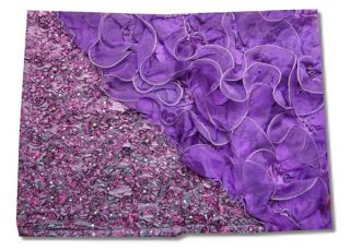 tlg. Luxus Tagesdecke Bettüberwurf Set 250x260cm Tüll Blumen Zopf