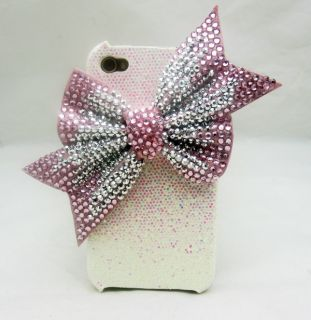 PG99 Bling big Bow white cover case for iphone 4 4S
