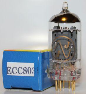 JJ Gold Pin preamp tubes,ECC803S, long plates 12AX7, BRAND NEW